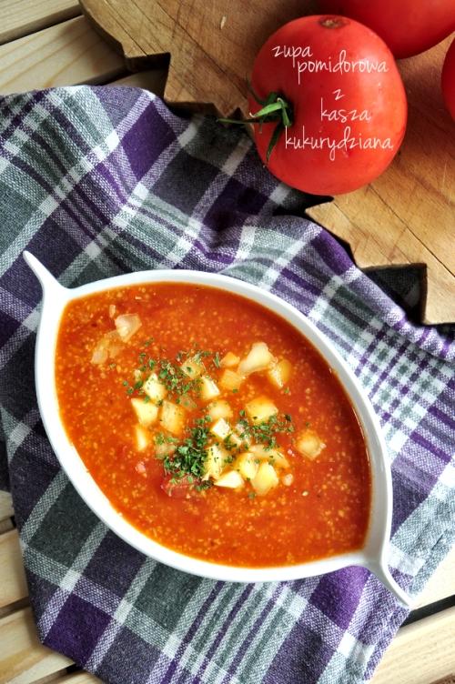 zupa pomidorowa ześwieżych pomidorów