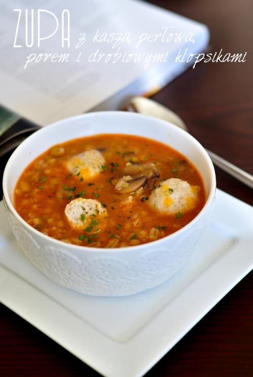 zupa z kasza perlowa